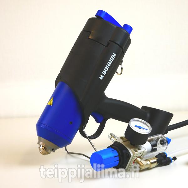 Tarrakuumaliima suurien pintojen liimaamiseen HB 710 spray-liimapistoolilla